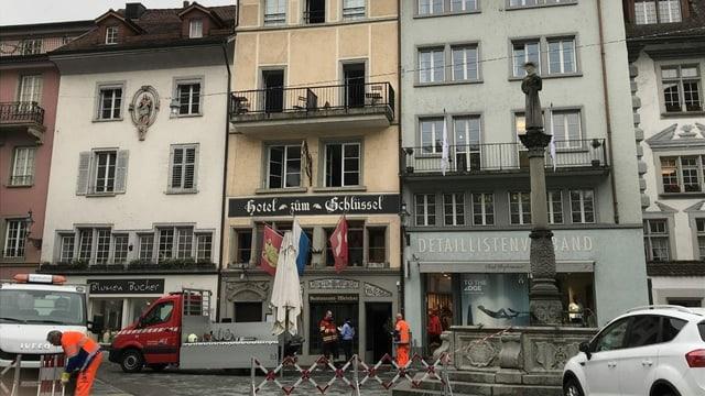 Ein Haus, welches in der Stadt Luzern gebrannt hat im Mai 2019.