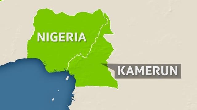 Karte mit Nigeria und Kamerun eingezeichnet