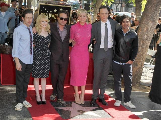 «The Big Bang Theory» am «Hollywood Walk of Fame»
