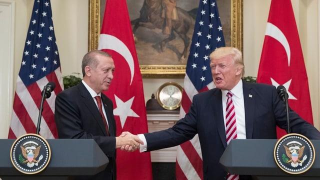 Erdogan und Trump.