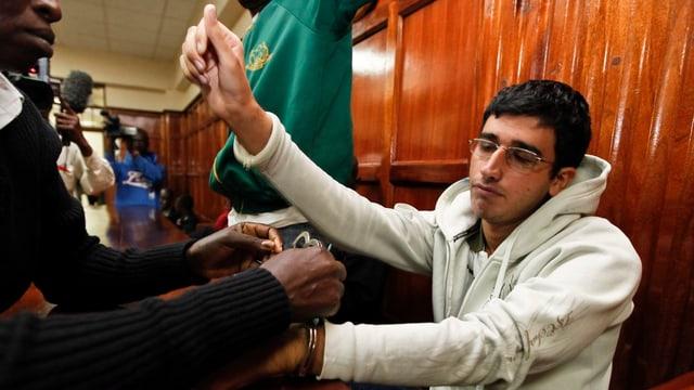 Majid N. in einem Gerichtssaal in Nairobi.
