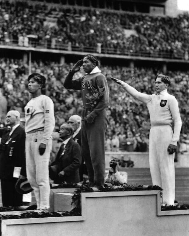 Siegerehrung Olympia in München 1936