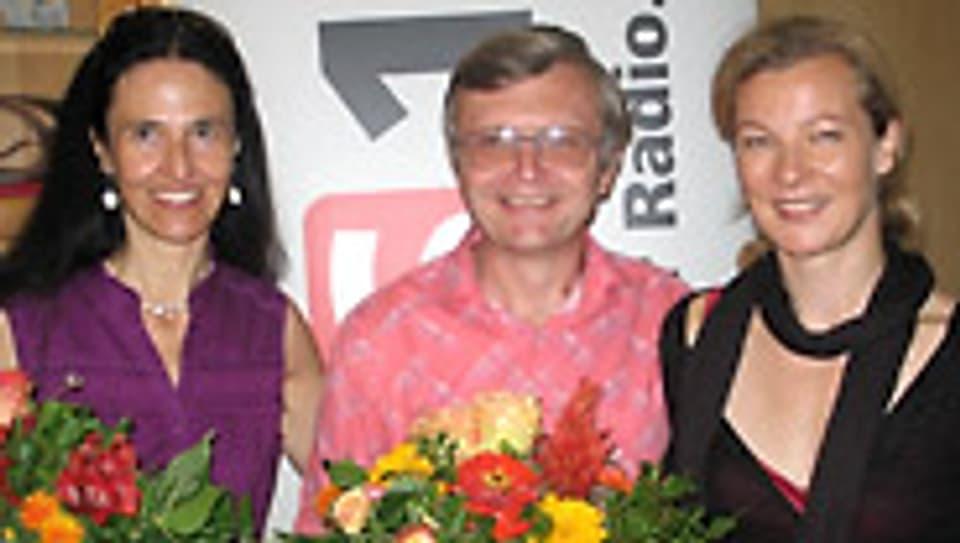 Karin Frei (r.) mit Andrea Könz und Vàclav Ourednik.