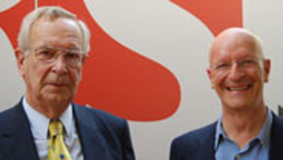 Gustav Andreas Tammann und Claude Nicollier