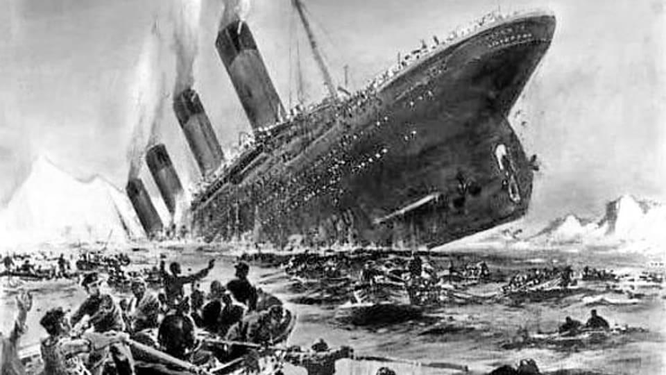 Jahrhundertkatastrophe: Illustration von Willy Stöwer für die Zeitschrift «Die Gartenlaube»