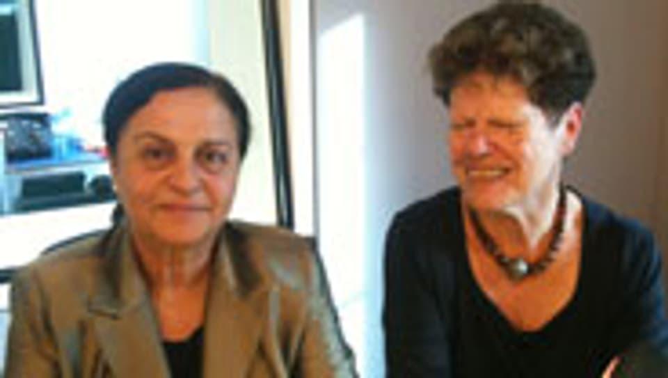 Sumaya Farhat-Naser (links) aus Palästina und Roni Hammermann aus Israel setzen sich für einen Frieden im Nahen Osten ein.