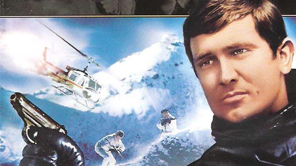 Ausschnitt aus dem Filmplakat zu «James Bond 007. Im Geheimdienst ihrer Majestät». Der Film kam 1969 weltweit in die Kinos.