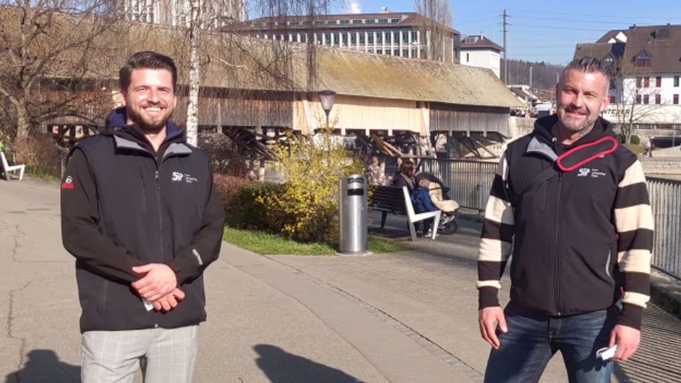 Joël Bur und Daniel Schwitter in Olten.