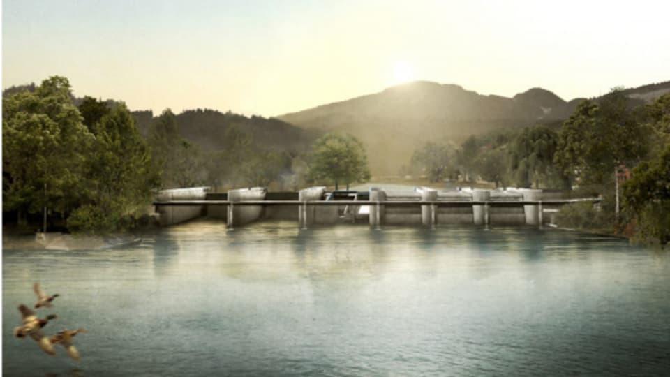 Mitteldamm soll bleiben - Projekt Aarauer Aarekraftwerk liegt auf.