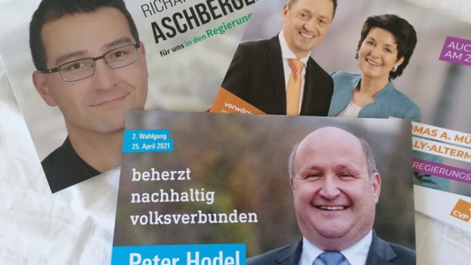 Richard Aschberger (SVP), Thomas Müller, Sandra Kolly (beide CVP) und Peter Hodel (FDP) möchten in die Solothurner Regierung.