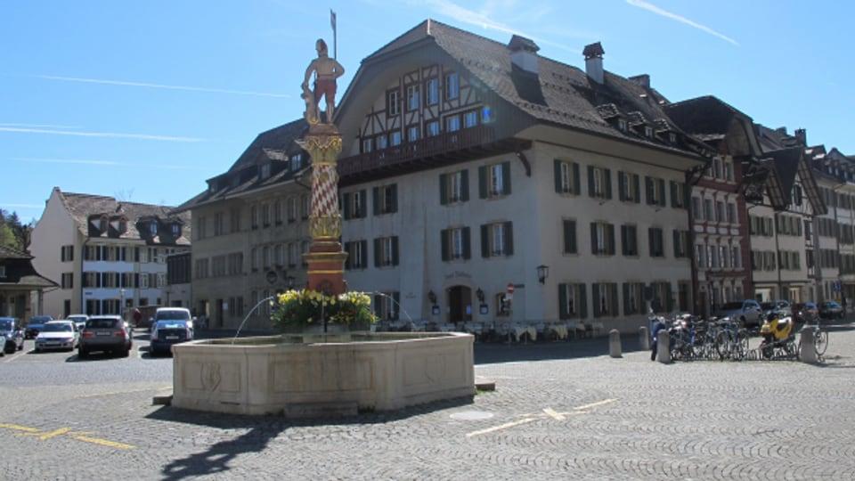 Die Altstadt von Zofingen, hier der Thutplatz, wird zur Begegnungszone mit Tempo 20.