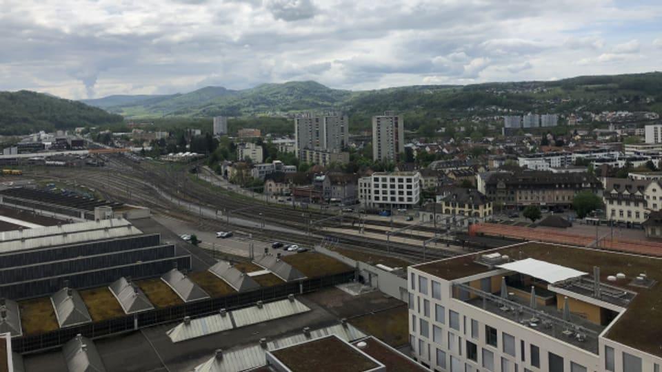 In der Stadt Brugg, mit über 12'000 Einwohnenden, könnten viele Wohnungen und Arbeitsplätze entstehen.