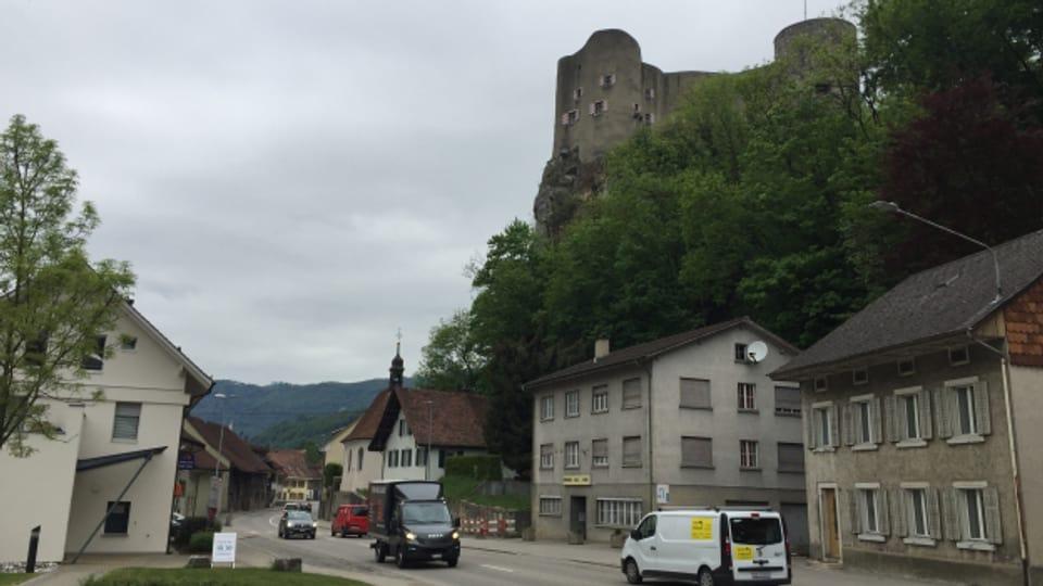 Kritik von Denkmalschützern: Mit der Umfahrung würde sich die Sicht auf die Burg Alt Falkenstein verändern.