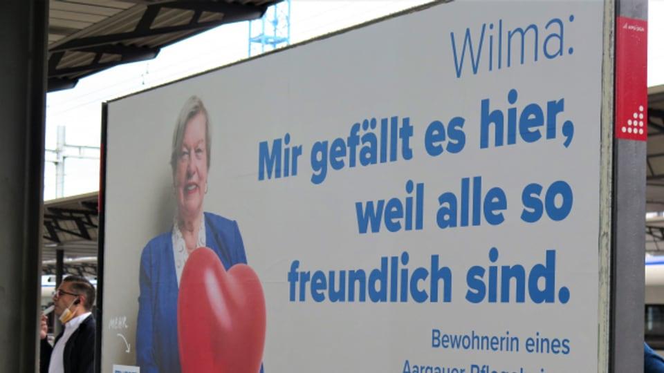 Werbung für Aargauer Pflegheime