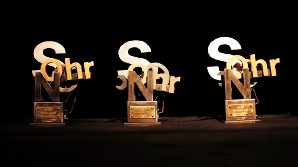 Diese Pokale gibt es beim Hörfestival «Sonohr» zu gewinnen.