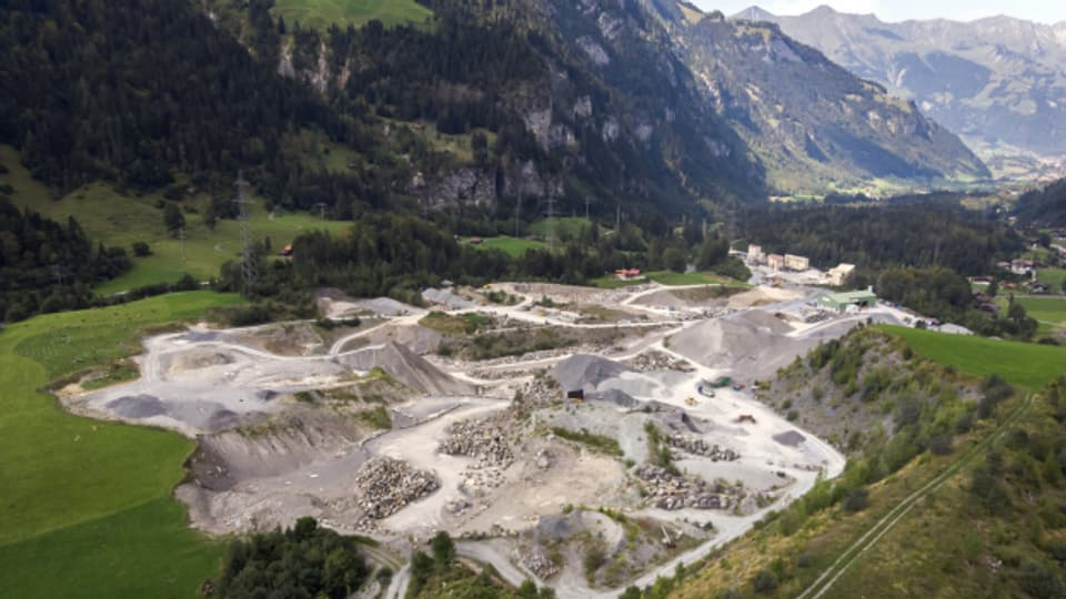 Der Steinbruch in Mitholz.