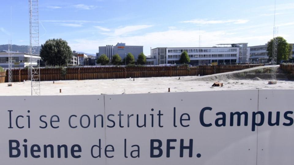 Der geplante Campus Biel verzögert sich und wird teurer.