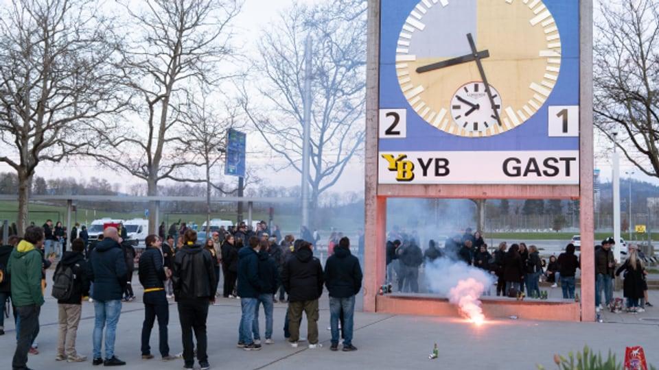Die YB-Fans durften beim entscheidenden Spiel der Meisterschaft nicht ins Stadion.