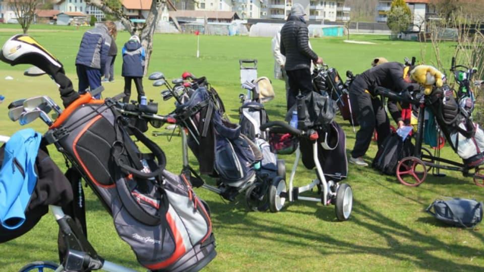 Auch unter der Woche wird auf dem Golfplatz in Oberburg trainiert und gespielt.