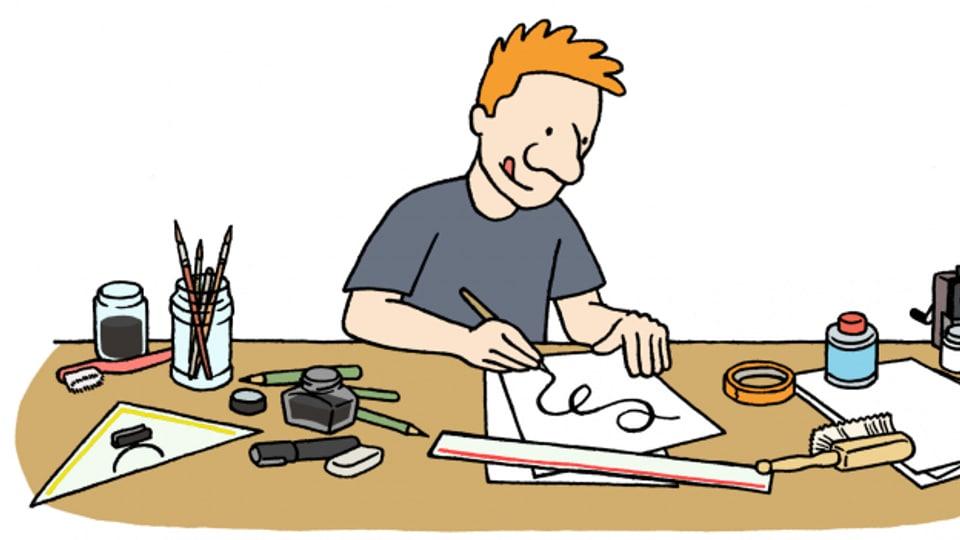 Simon Kiener arbeitet hauptberuflich als freischaffender Illustrator.