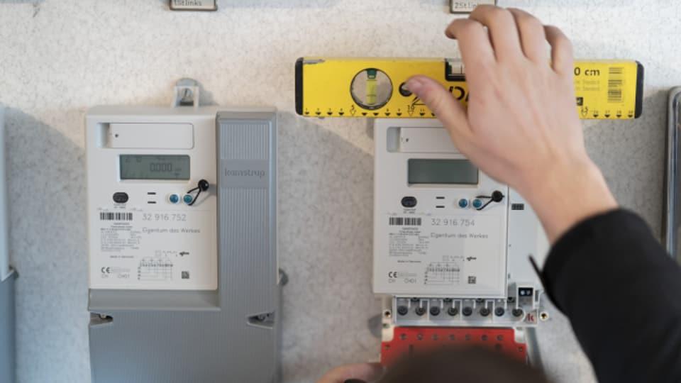 Alte Stromzähler werden durch solche Smart Meter ersetzt