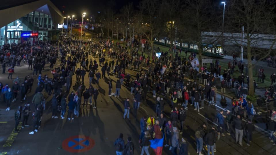 Blieb im Gegensatz zur Mini-Demonstration vor einem Jahr folgenlos: FCB-Demo