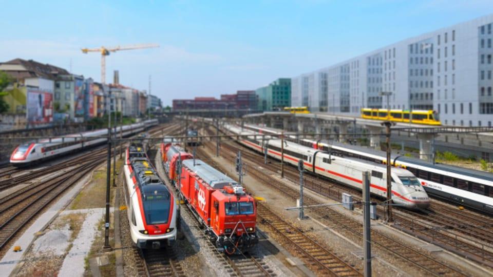 Einfahrt in den Basler Bahnhof SBB - für das Herzstück braucht es einen Tiefbahnhof