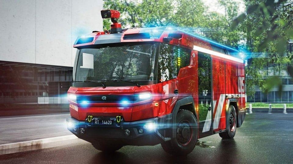 Die Berufsfeuerwehr Basel-Stadt stellt heute ihre E-Feuerwehrautos vor.