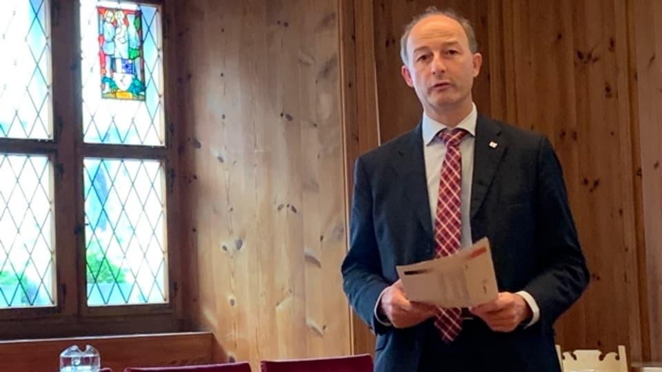 Stadtpräsident Urs Marti sprach bei der Präsentation des Budgets von einer «finanziell stabilen Situation».