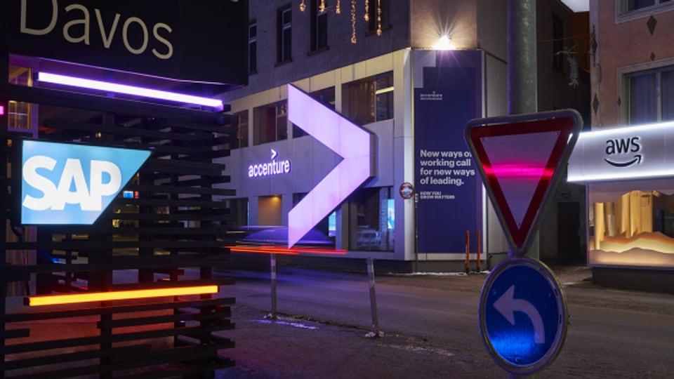 Temporäre Parallelwelt in Davos