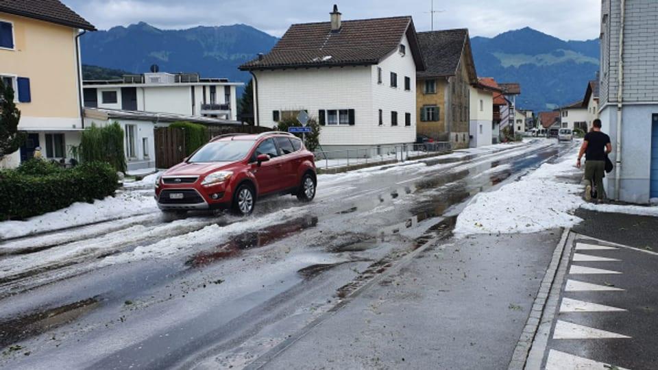 Auch Benken im Kanton St. Gallen wurde von den Unwettern getroffen.