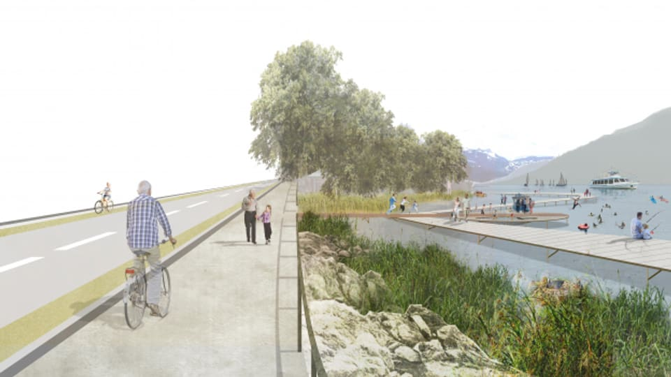 So könnte es dereinst an der Seepromenade am Ägerisee aussehen.