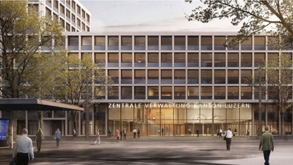 So soll das künftige Verwaltungsgebäude am Seetalplatz aussehen