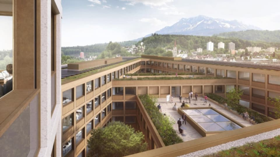 Verwaltungsgebäude am Seetalplatz Visualisierung