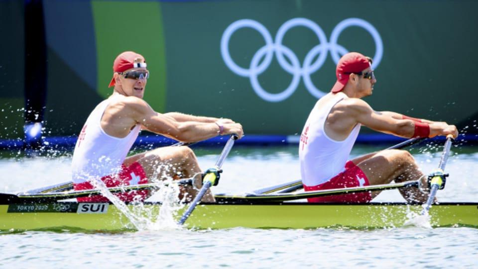 Final-Enttäuschung an den olympischen Spielen für das Schweizer Ruder-Duo.
