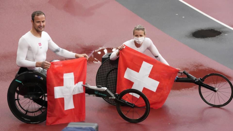 Die letzten Medaillen gabs am Samstag: Marcel Hug aus Nottwil gewann Gold, Manuela Schär aus Kriens Silber.