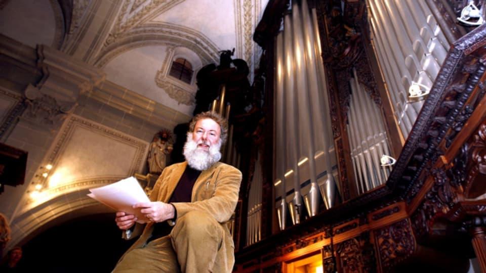 Der Maestro und seine Muse: Wolfgang Sieber und die Orgel der Hofkirche.