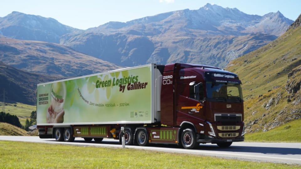 Die Galliker Transport AG setzt auf batteriebetriebene LKW.