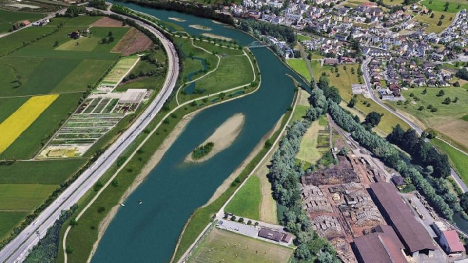 Das Projekt Hochwasserschutz für die Reuss.