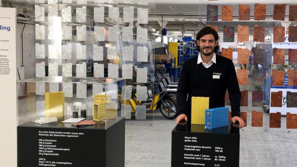 Olivier Groux hat zusammen mit externen Spezialisten das Recyclingverfahren für die Firma Kyburz erfunden.