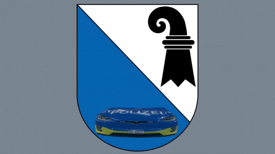 Blauer Tesla, blaues Wappen: Eigentlich sind Zürich und Basel gar nicht so unterschiedlich.