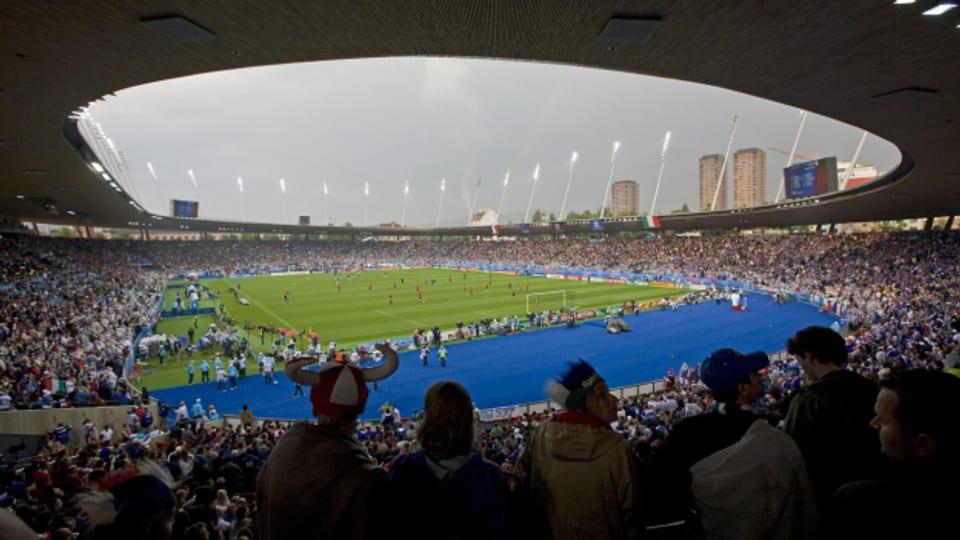 Das Letzigrund-Stadion während eines EM-Spiels 2008.