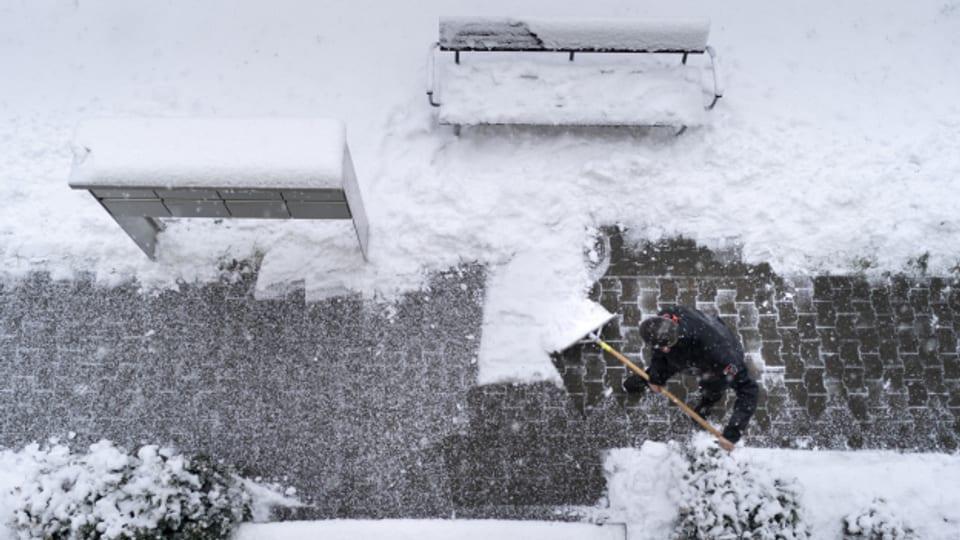 Rekordverdächtig viel Schnee