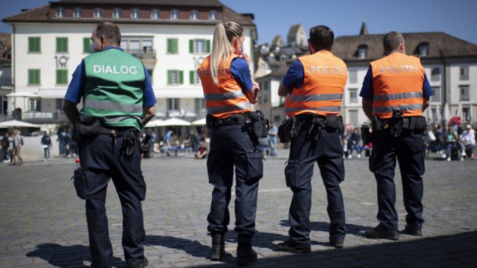 Die Polizei war in Rapperswil mit einem Grossaufgebot vor Or