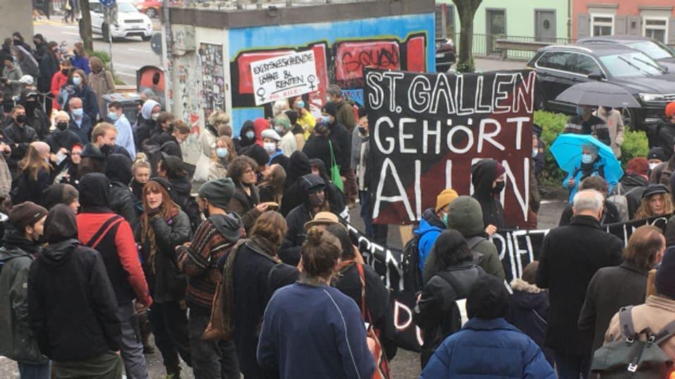 Die Kundgebung in St. Gallen.