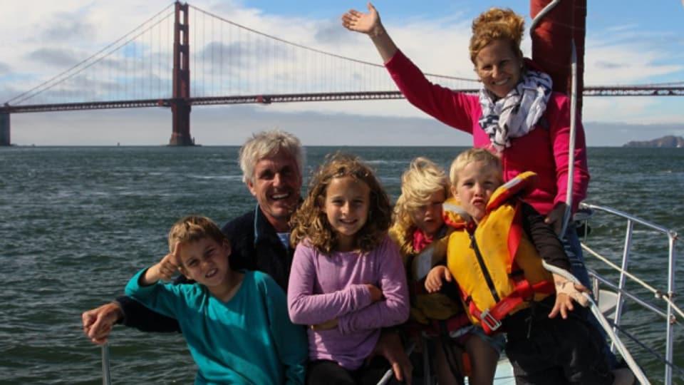 Familie Schwörer segelt fürs Klima um die Welt