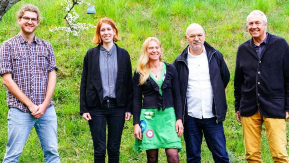 Kerngruppe des Projekt Klimaspuren mit Köbi Gantenbein (z.v.l.)