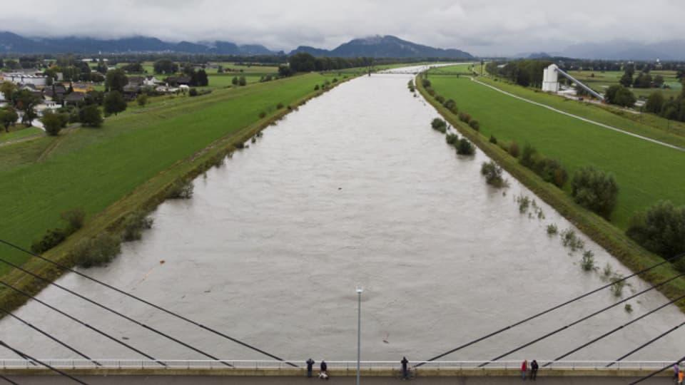 Fuss- und Velowege wegen Hochwassergefahr gesperrt
