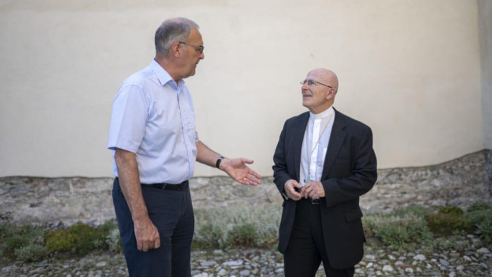 Joseph Maria Bonnemain und Guy Parmelin im Val Müstair