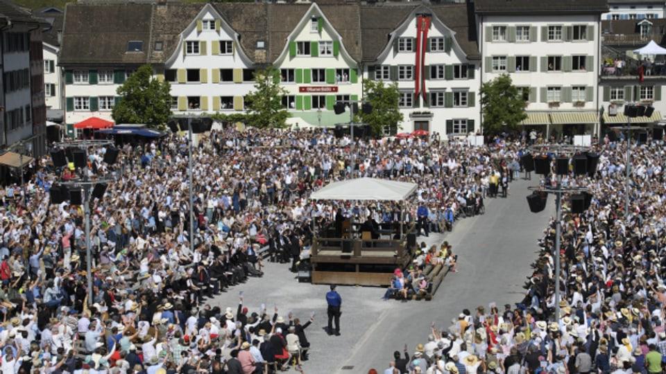 Die letzte Glarner Landsgemeinde wurde im Mai 2018 durchgeführt
